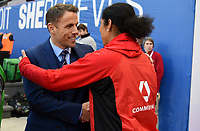 Harrison, N.J. - Sunday March 04, 2018: Phil Neville, Steffi Jones during a 2018 SheBelieves Cup match between the women's national teams of the Germany (GER) and England (ENG) at Red Bull Arena.