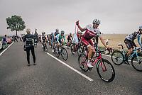 Nils Politt (DEU/Katusha-Alpecin) coming through the feedzone<br /> <br /> 104th Tour de France 2017<br /> Stage 2 - Düsseldorf › Liège (203.5km)