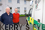 Proposed down grading of the 24 hour Ambulance Service in Cahersiveen which services all of South Kerry is still on the HSE's agenda pictured here l-r; Frank O'Leary(South Kerry Community First Responders) & Dr Kieran O'Shea who are totally opposed to the idea.