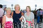Margaret McAuliffe, Kathleen Houlihan and Betty McElligott from Listowel  enjoying the Listowel Races Ladies Day on Sunday.
