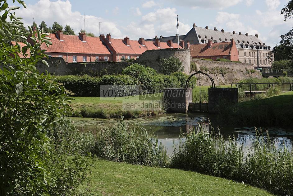 Europe/France/Nord-Pas-de-Calais/59/ Nord/ Bergues: la Ville fortifiée par Vauban et ses remparts