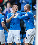 Lee McCulloch celebrates his goal with Kris Boyd