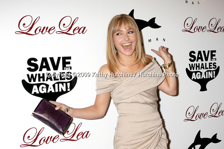 Hayden Panettiere.arriving at the Whaleman Foundation Save the Whales Again Event 2009.Beso.Los Angeles,  CA.November 15, 2009.©2009 Kathy Hutchins / Hutchins Photo.