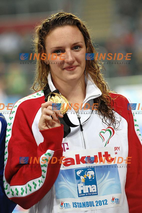 Katinka Hosszu Hungary Gold Medal Women's 200m butterfly.Istanbul 12/12/2012 Sinan Erdem Dome.World Swimming Championships Short course 25m Nuoto Istanbul.Foto Andrea Staccioli Insidefoto