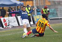 NAPOLI 28/01/2012 - CAMPIONATO SERIE A 2011/2012 INCONTRO LECCE - INTER.NELLA FOTO  JAVIER ZANETTI.FOTO CIRO DE LUCA