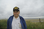Normandy, WWII veteran Henry Hirschmann in Utah Beach on the 70th Anniversary of D-DAY