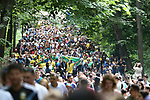 17th June 2018, Luzhniki Stadium, Moscow, Russia; FIFA World Cup Football, Group F, Germany versus Mexico; Fans; supporters at the FIFA Fan Fest Area at the Moscow State University during the match