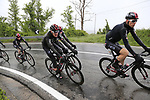 The peloton including Christian Knees (GER) and Team Ineos climb over the Appenines and into Tuscany during a wet Stage 2 of the 2019 Giro d'Italia, running 205km from Bologna to Fucecchio, Italy. 12th May 2019.<br /> Picture: Eoin Clarke | Cyclefile<br /> <br /> All photos usage must carry mandatory copyright credit (© Cyclefile | Eoin Clarke)