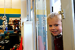FREE PIC - NO REPRO FEE<br /> 24/09/2015 - Blackpool, Cork<br /> Five-year-old Hollie McGrath from Fairhill, Cork waiting for the store to open before the official opening of the new Dealz store at Blackpool Retail Park, Cork.<br /> Pic: Brian Lougheed