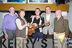 Ballad Competition Winner: Wayne Brennan from Offaly being presented with the winners cheque after he won the ballad competition at the Sean McCarthy Ballad competition in Teach Siamsa, Finuge on Saturday night last. L - R: Sean ahern, Peggie O'Connell, Wayne Brennan, Eoin Hand & Denis O'Rourke.