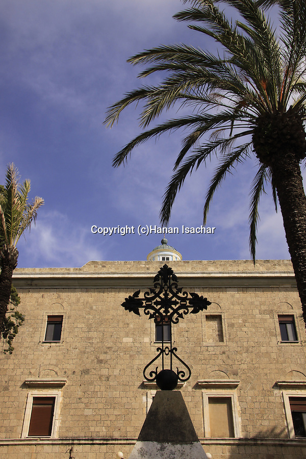 Israel, Haifa, the Carmelite Stella Maris Monastery on Mount Carmel
