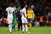 A despondent  Mousa Dembele of Tottenham Hotspur after Tottenham Hotspur vs Juventus, UEFA Champions League Football at Wembley Stadium on 7th March 2018