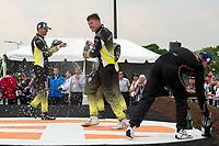 #14 AIM Vasser Sullivan Lexus RC F GT3, GTD: Richard Heistand, Jack Hawksworth, 2nd Place - #12 AIM Vasser Sullivan Lexus RC F GT3, GTD: Frank Montecalvo, Townsend Bell