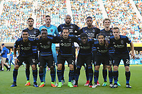 San Jose, CA - Saturday May 27, 2017: San Jose Earthquakes Starting Eleven during a Major League Soccer (MLS) match between the San Jose Earthquakes and the Los Angeles Galaxy at Avaya Stadium.