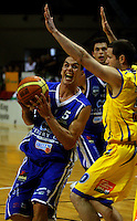 Troy McLean in action during the NBL Basketball match between Wellington Saints and Otago Nuggets at TSB Bank Arena, Wellington, New Zealand on Sunday, 30 March 2008. Photo: Dave Lintott / lintottphoto.co.nz