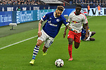16.03.2019, VELTINS-Arena, Gelsenkirchen, GER, DFL, 1. BL, FC Schalke 04 vs RB Leipzig, DFL regulations prohibit any use of photographs as image sequences and/or quasi-video<br /> <br /> im Bild v. li. im Zweikampf Guido Burgstaller (#19, FC Schalke 04) Amadou Haidara (#8, RB Leipzig) <br /> <br /> Foto © nph/Mauelshagen
