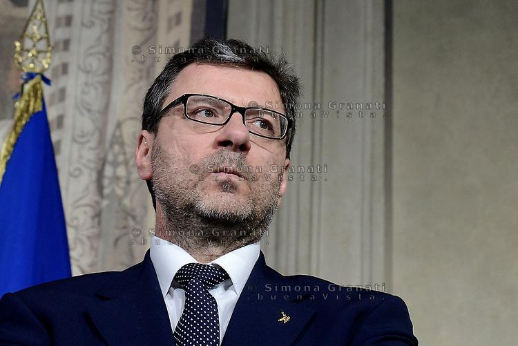 Roma, 14 Maggio 2018<br /> Giancarlo Giorgetti<br /> Consultazioni al Quirinale per la formazione del nuovo Governo