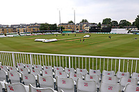 Empty seats and the floodlights on ahead of Essex CCC vs Middlesex CCC, Specsavers County Championship Division 1 Cricket at The Cloudfm County Ground on 27th June 2017