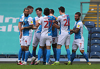 18th July 2020; Ewood Park, Blackburn, Lancashire, England; English Football League Championship Football, Blackburn Rovers versus Reading; Ben Brereton of Blackburn Rovers celebrates with his team mates after scoring after 3 minutes to gives his team a 1-0 lead