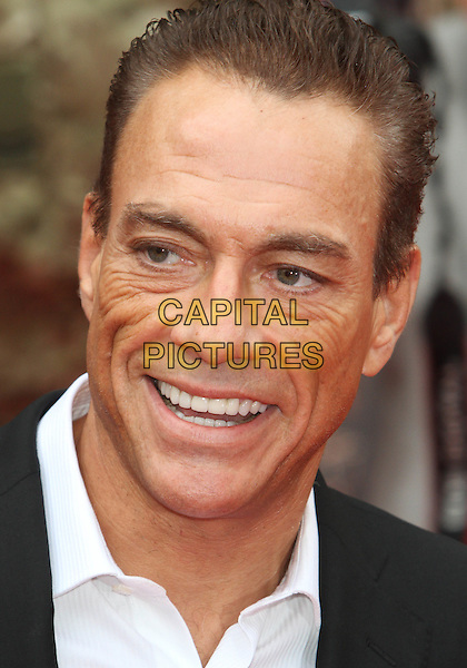 Jean-Claude Van Damme .'The Expendables 2' UK film premiere held at the Empire Leicester Square,.London, England..13th August 2012.headshot portrait black white shirt  .CAP/ROS.©Steve Ross/Capital Pictures.
