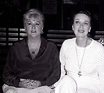 Margaret Whiting and Patricia Morrison performing in 'Gigi', with the Kenley Players on June 30, 1982 in Dayton Ohio.