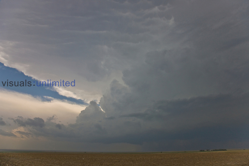 A developing supercell cloud system in central Kansas, USA.