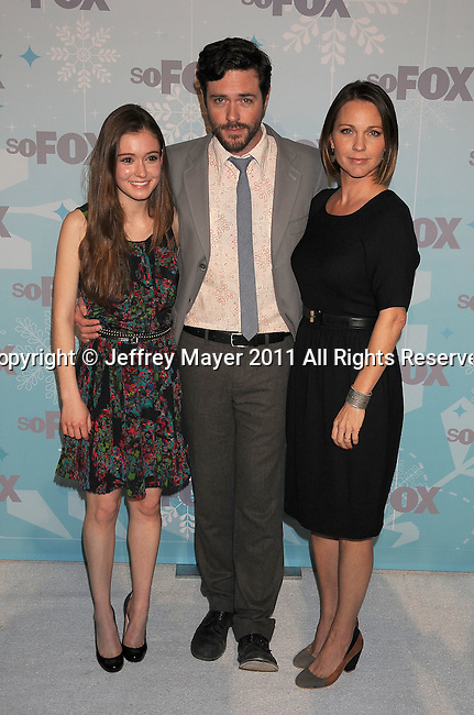PASADENA, CA - January 11: Hayley McFarland, Brendan Hines and Kelli Williams attend the 2011 Fox All-Star Party at Villa Sorriso on January 11, 2011 in Pasadena, California.