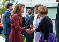 Prime Minister Justin Trudeau and his wife, Sophie Gregoire Trudeau, met the royal couple in  Vancouver, British Colombia, Sunday September 25, 2016.<br /> <br /> Photo : Andrew Soong - agence quebec presse