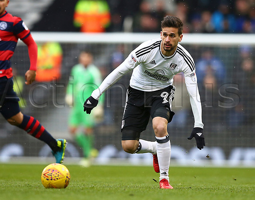 17th March 2018, Craven Cottage, London, England; EFL Championship football, Fulham versus Queens Park Rangers; Rui Fonte of Fulham chasing the ball