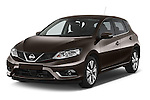 2015 Nissan Pulser Acenta 5 Door Hatchback 2WD Angular Front stock photos of front three quarter view