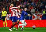 Atletico de Madrid's Alvaro Morata and Athletic Club de Bilbao's Unai Lopez during La Liga match. Oct 26, 2019. (ALTERPHOTOS/Manu R.B.)