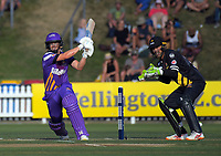 Action from the Burger King Super Smash T20 cricket match between the Wellington Firebirds and Canterbury Kings at Basin Reserve in Wellington, New Zealand on Sunday, 6 January 2019. Photo: Dave Lintott / lintottphoto.co.nz