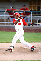 July 10th 2008:  Luis Jimenez of the Orem Owlz, Rookie Class-A affiliate of the Los Angeles Angels of Anaheim, during a game at Home of the Owlz Stadium in Orem, UT.  Photo by:  Matthew Sauk/Four Seam Images