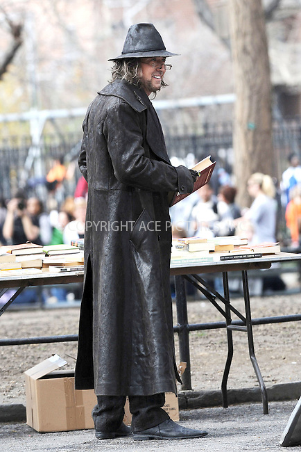 WWW.ACEPIXS.COM . . . . . ....April 2 2009, New York City....Actor Nicolas Cage was on the set of his new movie 'Sorcerers Apprentice' in Washington Square Park on April 2 2009 in New York City....Please byline: KRISTIN CALLAHAN - ACEPIXS.COM.. . . . . . ..Ace Pictures, Inc:  ..tel: (212) 243 8787 or (646) 769 0430..e-mail: info@acepixs.com..web: http://www.acepixs.com