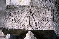 Europe/France/Normandie/Basse-Normandie/61/Orne/Courgeon : Cadran solaire de l'église Notre-Dame