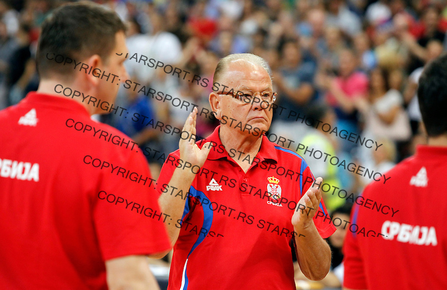 Dusan Duda Ivkovic Serbia vs Russia, friendly basketball game in Belgrade Arena, Belgrade, Serbia on Monday, August 12. 2013. (credit: Pedja Milosavljevic  / thepedja@gmail.com / +381641260959)