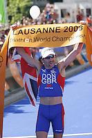 03 SEP 2006 - LAUSANNE, SWITZERLAND - Tim Don (GBR) wins the Elite Mens World Triathlon Championship title. (PHOTO (C) NIGEL FARROW)