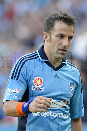 16.02.2013 Sydney, Australia. Sydneys Italian forward Alessandro Del Piero during the Hyundai A League game between Sydney FC and Adelaide United from the Allianz Stadium.
