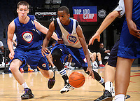 BJ Young at the NBPA Top100 camp at the John Paul Jones Arena Charlottesville, VA. Visit www.nbpatop100.blogspot.com for more photos. (Photo © Andrew Shurtleff)