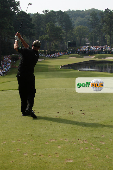 Darren Clarke (NIR) teeing off on the 15th on day 2 of the 93rd PGA Championship, The Atlanta Athletic Club, Johns Creek, Atlanta Georgia 12/8/11.Picture Fran Caffrey www.golffile.ie