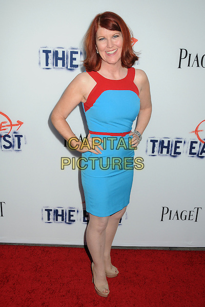 "Kate Flannery.""The East"" Los Angeles Premiere held at Arclight Cinemas, Hollywood, California, USA..May 28th, 2013.full length red blue turquoise dress belt hands in hips.CAP/ADM/BP.©Byron Purvis/AdMedia/Capital Pictures"