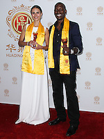 HOLLYWOOD, LOS ANGELES, CA, USA - JUNE 01: Actors Jordana Brewster and Tyrese Gibson pose with the Best Global Movie of the Year Award for 'Fast & Furious 6' in the press room at the 12th Annual Huading Film Awards held at the Montalban Theatre on June 1, 2014 in Hollywood, Los Angeles, California, United States. (Photo by Xavier Collin/Celebrity Monitor)