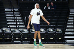 WINSTON-SALEM, NC - FEBRUARY 24: Notre Dame's Bonzie Colson. The Wake Forest University Demon Deacons hosted the University of Notre Dame Fighting Irish on February 24, 2018 at Lawrence Joel Veterans Memorial Coliseum in Winston-Salem, NC in a Division I men's college basketball game. Notre Dame won the game 76-71.