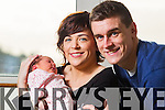 Daniel O'Shea, Aisling O'Sullivan and baby Clodagh O'Shea who was born in Kerry General Hospital on New Years Day