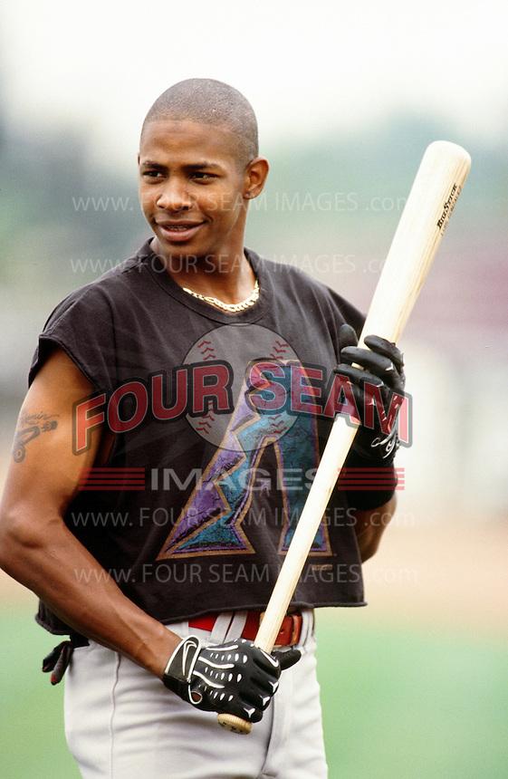 Abraham Nunez of the High Desert Mavericks during a California League baseball game circa 1999. (Larry Goren/Four Seam Images)