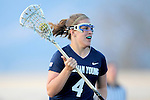 Santa Barbara, CA 02/18/12 - Shelly Smith (BYU #4) in action during the Arizona State vs BYU matchup at the 2012 Santa Barbara Shootout.  BYU defeated Arizona State 10-8.