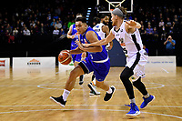 Saints&rsquo; Reuben Te Rangi in action during the NBL - Cigna Saints v Bay Hawks at TSB Bank Arena, Wellington, New Zealand on Friday 12 April 2019. <br /> Photo by Masanori Udagawa. <br /> www.photowellington.photoshelter.com