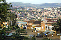 Rwanda. Kigali province. Kigali. Downtown. Town center. Real estate. daily life. Traffic. © 2007 Didier Ruef
