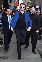 NEW YORK, NY - April 8:  Hugh Jackman seen at Good Morning America in New York City on April 08, 2019. <br /> CAP/MPI/RW<br /> ©RW/MPI/Capital Pictures