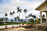 This woman lost 13 members of her family during Samoa's 2009 tsunami. Using Red Cross tools, the survivors are starting to rebuild their property and move on with their lives.